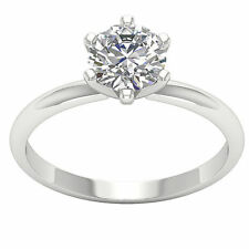 1.01 Ct Prong Set Round Diamond Jewelry Platinum Solitaire Engagement Ring Band