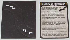 Evasiva Acción Plantilla & Referencia Tarjeta Star Trek Attack Wing Op Le