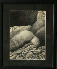 DUBIGEON Loic - dessin signé- La femme aux bas Dior