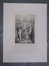 1881 Belle gravure religieuse Mame Tours Berthault imprimeur Hallez Ludy