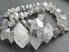 Grand type herkimer naturel diamant quartz, 9x14mm - 24x42mm, 15,75 pouces, 43 perles