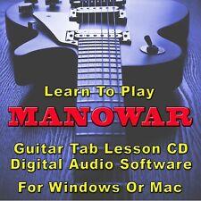 MANOWAR Guitar Tab Lesson CD Software - 63 Songs