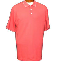 Nike Golf Mens Dri-Fit Short Sleeve Golf Shirt Size Large Polo Orange