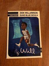 Zion Williamson Duke Blue Devils NCAA Custom Signed Autograph RP Trading Card