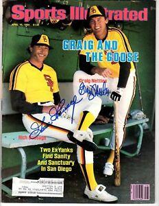 Goose Gossage G. Nettles Signed Auto Sports Illustrated 4/16/1984 - JSA WP888184