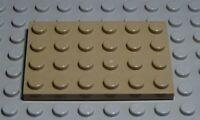Lego PLATE 2x6 Dark Beige 5 Piece 1991