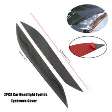 2X Black Car Headlight Eyelids Eyebrows Cover Fit For 2003-2008 Nissan 350Z Z33