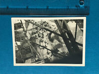 Photograph Vintage. View From Big Wheel Small People On Floor 1920's