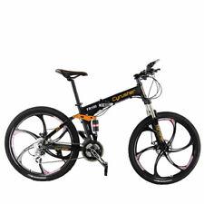 Cyrusher Folding Mountain Bike FR100 26 In 24 Speeds Full Suspension MTB (Black)