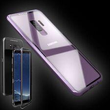 Pour Samsung Galaxy Note 9 AIMANT / Métal/Verre Rose/Transparent Housse Étui
