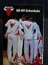 Michael Jordan 1988-89 Chicago Bulls Basketball Schedule HTF Nice