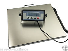 """Digital 400lb 16.7"""" x 13.7"""" STAINLESS STEEL Platform Shipping Scale Postal Bench"""