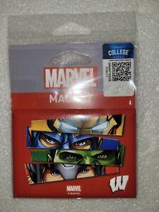 "NIP Wincraft Marvel Comics Avengers WISCONSIN U Refrigerator Magnet 2.5"" x 3.5"""