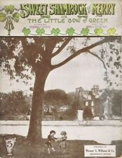 Sweet Shamrock of Kerry or The Little Bow of Green 1915 vintage sheet music