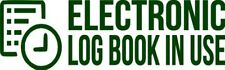 """Set Of 2 FOREST """"ELog Device in Use"""" Electronic Log Book Decal Sticker Truck ELD"""