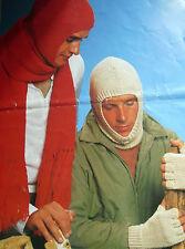 1589  Mens 4Ply & DK Balaclava, Scarf & Fingerless Mitts Easy Knitting Pattern