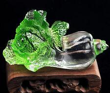 Feng Shui Liu Li Crystal Glazed Bok Choy Figure Paperweight Glass Art Decoration