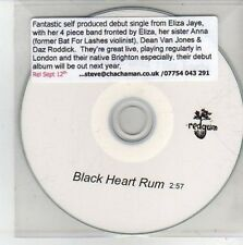 (CH446) Eliza Jaye And The Tarts, Black Heart Rum - DJ CD
