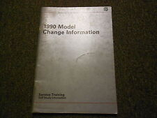 1990 VW FOX GOLF GL GTI  Model Change Information Service Training Shop Manual