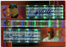 2004 SP Prospects CARLOS BELTRAN GREG GOLSON RC Link to the Future Dual Auto 100