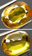 Natural Songea Tanzania Yellow Sapphire Oval Facet Gemstone 1.18Ct