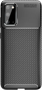 Shockproof Silicone Carbon Fiber Fibre Case Cover For Samsung S20 Plus Ultra 5g