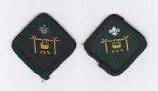 1970-2000's BRITISH / UK SCOUTS - CAMP COOK SCOUT PROFICIENCY BADGE (2 VAR)
