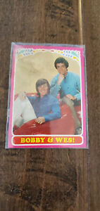 1971 TOPPS TEST ISSUE CARD BOBBY SHERMAN GETTING TOGETHER BOBBY & WES # 2