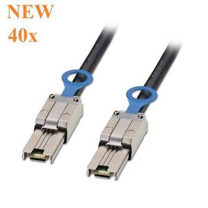 Lot of (40) Molex SFF-8088 TO SFF-8088 Mini-SAS to Mini-SAS 1FT Cable DELL OTFC6
