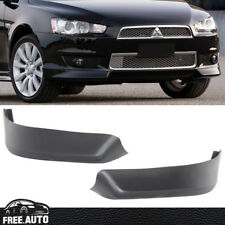 FIT FOR 2008-2015 MITSUBISHI LANCER OE STYLE PP FRONT BUMPER LIP SPOILER 2 PC