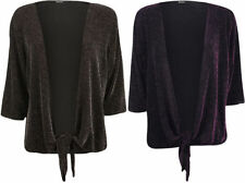 Waist Length Plus Size Sparkly Jumpers & Cardigans for Women