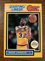 1989 Kenner Starting Lineup SLU One on One  MAGIC JOHNSON  Lakers   Card Only