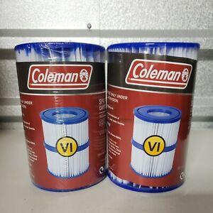 4 Pack GENUINE Coleman Bestway Spa Filter Cartridges VI for SaluSpa