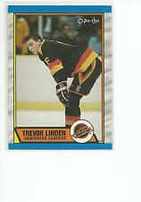 TREVOR LINDEN 1989-90 OPC O-Pee-Chee Hockey ROOKIE card #89 Vancouver Canucks NM