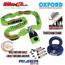 THATCHAM MOTORBIKE 1.8M CHAINLOCK & OXFORD ROTA SOLDSECURE ANCHOR MOTORCYCLE SET