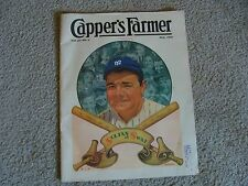 1935 Capper's Farmer magazine Babe Ruth on Cover Sultan of Swat Very Good