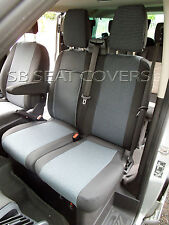 TO FIT A FORD TRANSIT VAN SEAT COVERS - SPORT, 89A FABRIC / LEATHERETTE TRIM