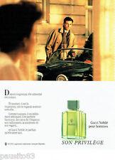 PUBLICITE ADVERTISING 046  1988  Gucci  parfum homme Nobilé