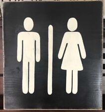 UNIVERSAL MAN and WOMAN Symbol Restroom Bathroom SIGN Bath Mens Womens Plaque