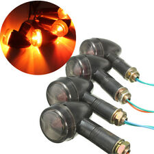 4pcs 12V Motorcycle Turn Signal Light Bullet Indicators Blinker Light Amber LAMP