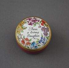 Halcyon Days Enamel Trinket Pill Box Floral From A Loving Daughter Mother's Day
