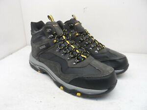 Skechers Men's Trego - Pacifico Hiking Waterproof Boots Grey/Yellow Size 13M