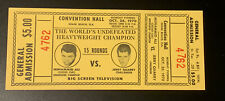 1970 Muhammad Ali Vs. Jerry Quarry Original Vintage Boxing TICKET PSA Ready