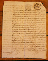 c1700 4P manuscript letter very nice Stampsnice calligraphy