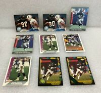 Andre Rison Lot of 9 Football Cards w/ 1991 Wild Card Stripe 10 UD Fleer Pro