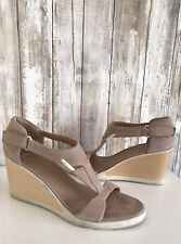 CAMPER Blush Pink Beige Strappy Comfy Wedge Open Toe Sandals 39 8.5 * RARE!