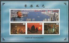 Hong Kong Views Deng Xiaoping Miniature Sheet mnh Easdale Island Scotland Local