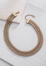 "Silpada K & R ""Good As Gold"" Brass Collar Statement Necklace KRN0085"