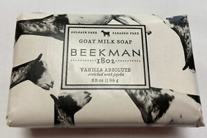 Beekman 1802 Goat Milk Soap Vanilla Absolute enriched with jojoba  (New)