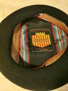 Grandos Basque Beret Black Size 56 100% Wool